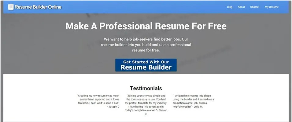 22+ Top Best Resume Builders 2016 Free  Premium Templates - Best Free Online Resume Builder