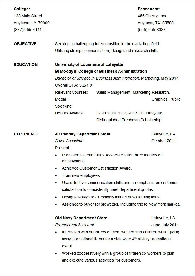 19+ Resume Examples - PDF, DOC Free  Premium Templates - How To Write A Good Resume For Students