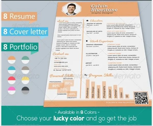 PSD Resume Template \u2013 51+ Free Samples, Examples, Format Download - Attractive Resume Templates