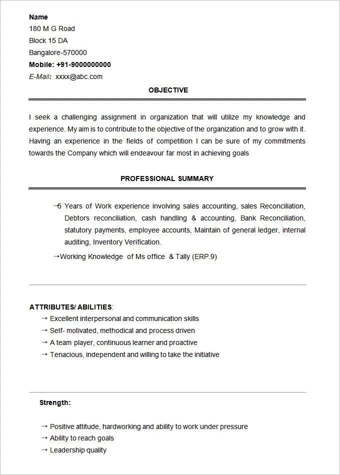 fresher resume examples bcom graduate