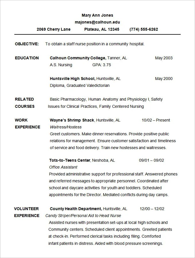 Gallery of Free Chronological Resume Template - sample chronological resume format