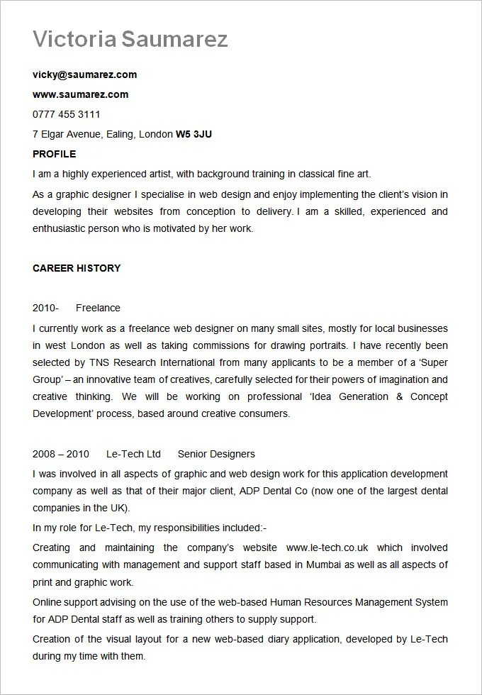 resume example formats - Idealvistalist - standard resume sample