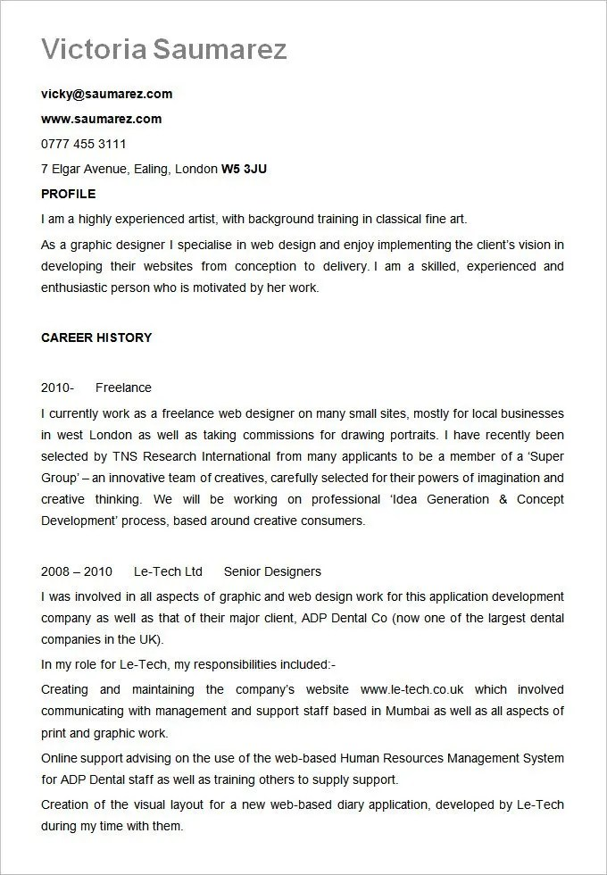 Best Resume Formats - 54+Free Samples, Examples, Format Free - Experienced Candidate Resume Format