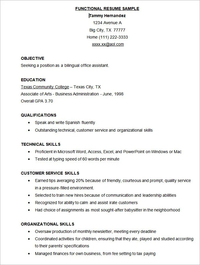 Microsoft Word Resume Template - 49+ Free Samples, Examples, Format - word resume samples