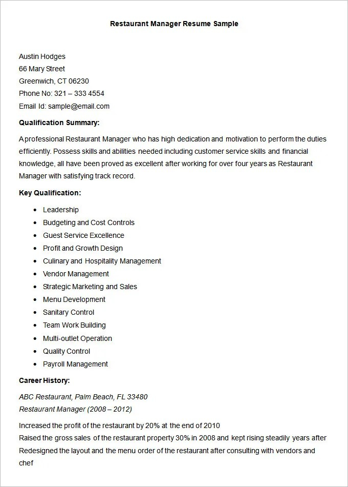 functional accounting resume contemporary ged essay practice test - restaurant manager resume template