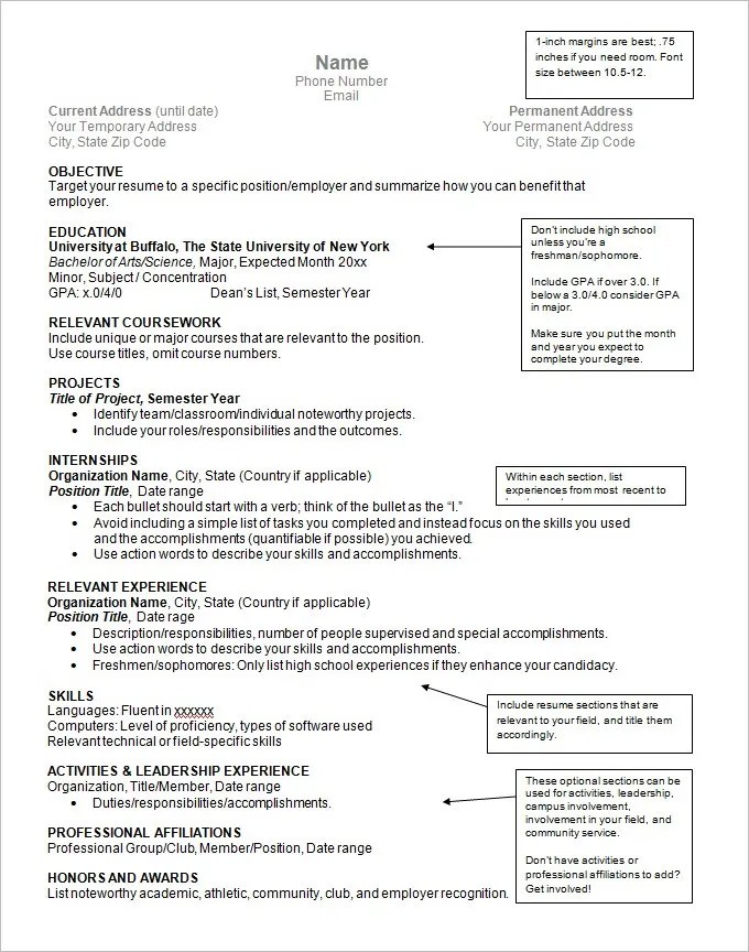 Resume Format Template Resume Samples Types Of Resume Formats