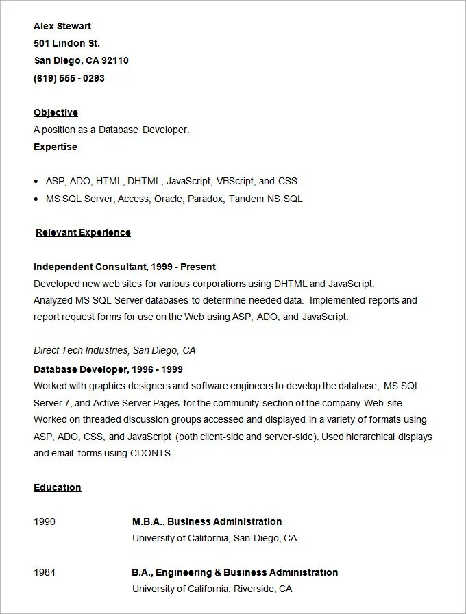 vb programmer sample resume python developer resume