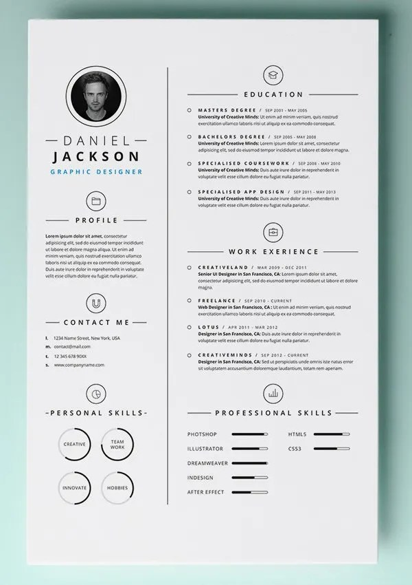 Free Templates Resume Beautiful Free Resume Cv Templates In Ai