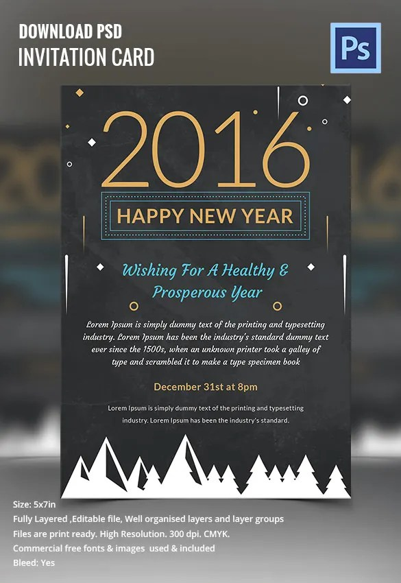 28+ New Year Invitation Templates \u2013 Free Word, PDF, PSD, EPS - flyer invitation templates free