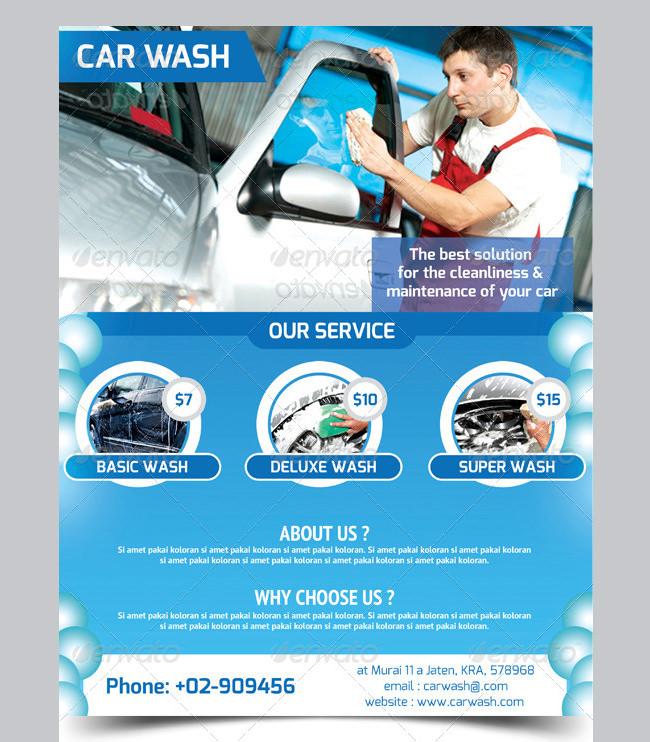 Car Wash Flyer - 48+ Free PSD, EPS, Indesign Format Download - car wash flyer template