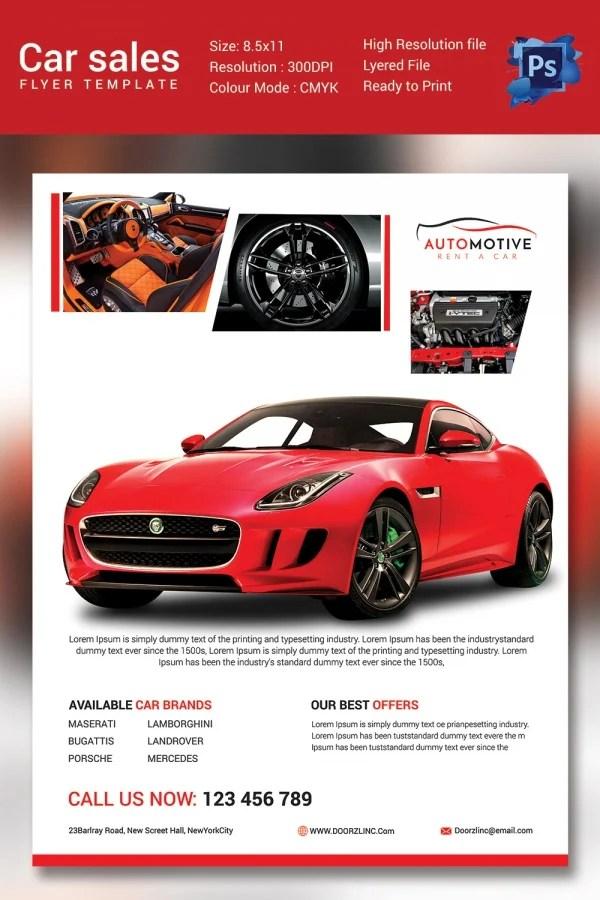 Word Sale Flyer - vheo - car for sale flyer