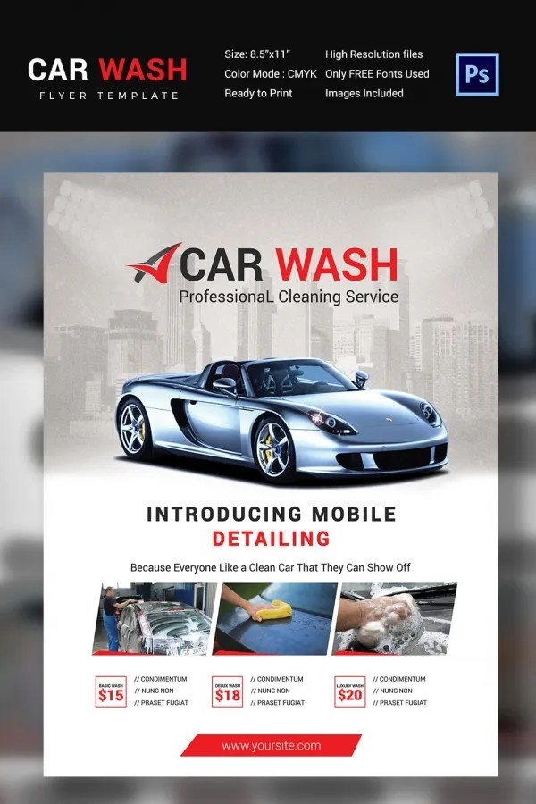 Car Show Flyer Template 17+ Car Show Flyer Templates - Free Psd - car wash flyer template