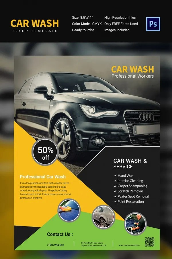Beautiful Car Wash Template Free Frieze Examples Professional