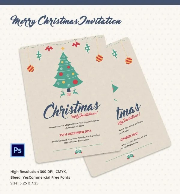 Christmas Invitation Template - 27+ Free PSD, EPS, Vector, AI, Word