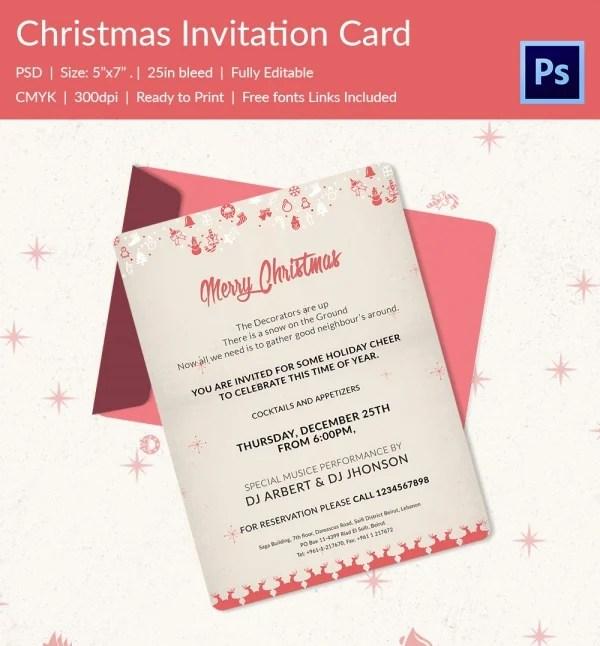 25+ Christmas Invitation Templates - PSD, EPS, Vector, AI, Word