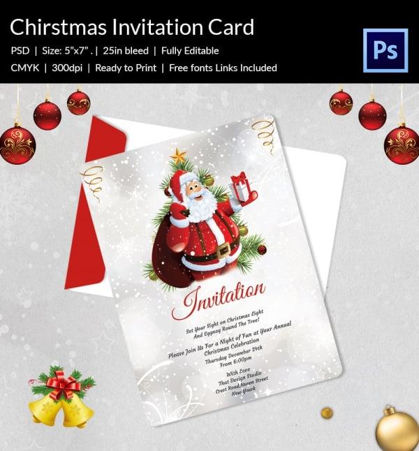 Christmas Party Invitation Templates Free Word \u2013 diabetesmanginfo