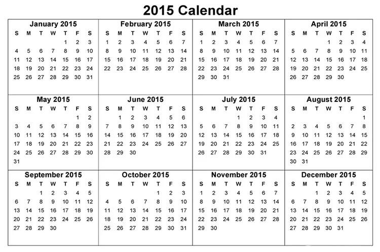 Landscape Calendar Template Costumepartyrun