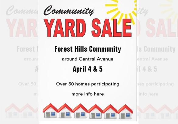 yard sale flyer template free xv-gimnazija