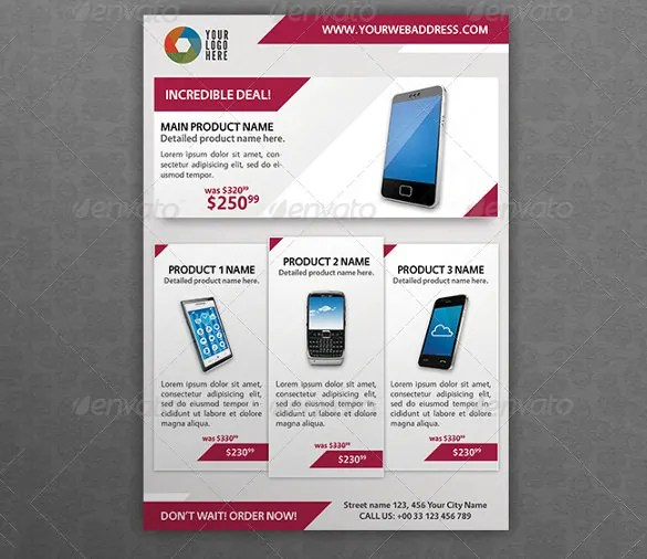 product flyer template free - Ozilalmanoof - free product flyer templates