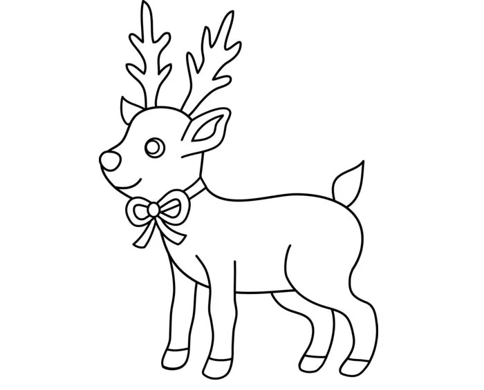 Christmas Reindeer Silhouette Seamless Pattern Vector Stock