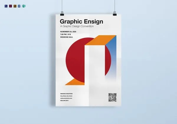 93+ Best Graphic Design Posters \u2013 Free Word, PDF, PSD, EPS, Indesign - free poster template word