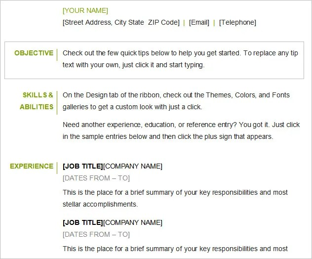 job objectives example - Ozilalmanoof - job objective for resume examples