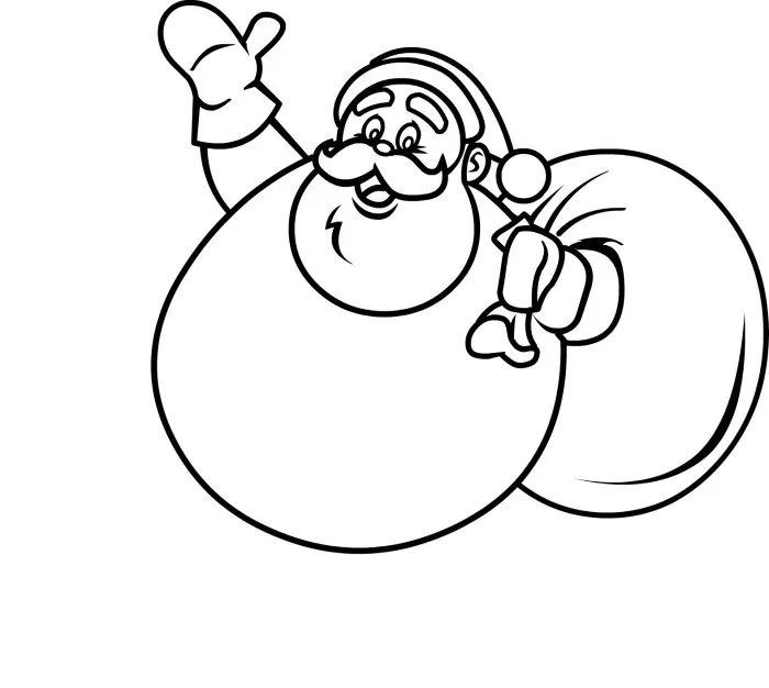 61+ Best Santa Templates Shapes, Crafts  Colouring Pages Free