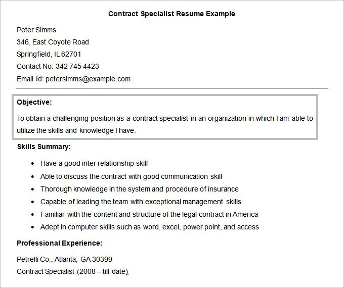 Resume Objectives - 61+ Free Sample, Example, Format Download Free - Good Resume Objectives