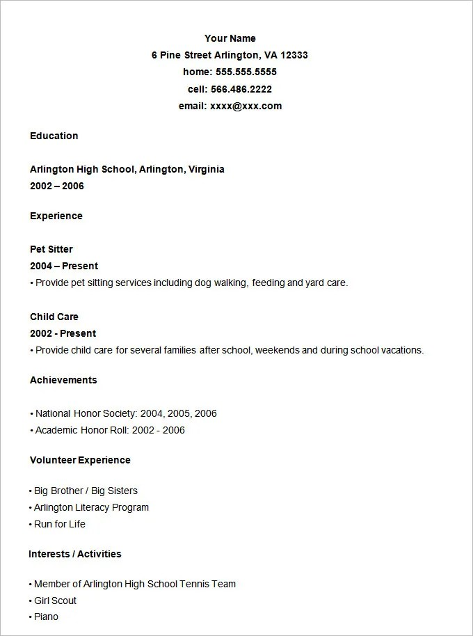 general resume form - Boatjeremyeaton - General Resume