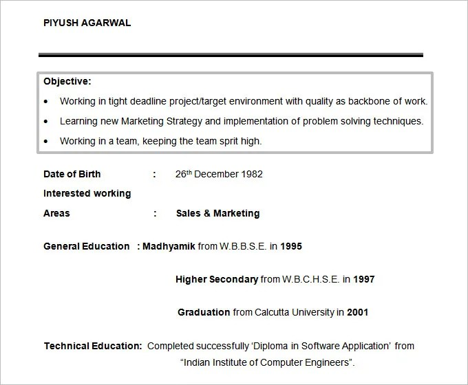 Resume Objectives - 61+ Free Sample, Example, Format Download Free - college student resume objective examples