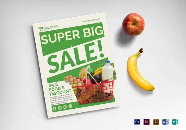 18+ Grocery Flyers - Free PSD, Vecto, AI Illustrator, EPS Format