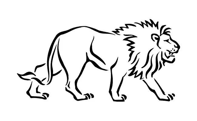 Lion Template - Animal Templates Free  Premium Templates