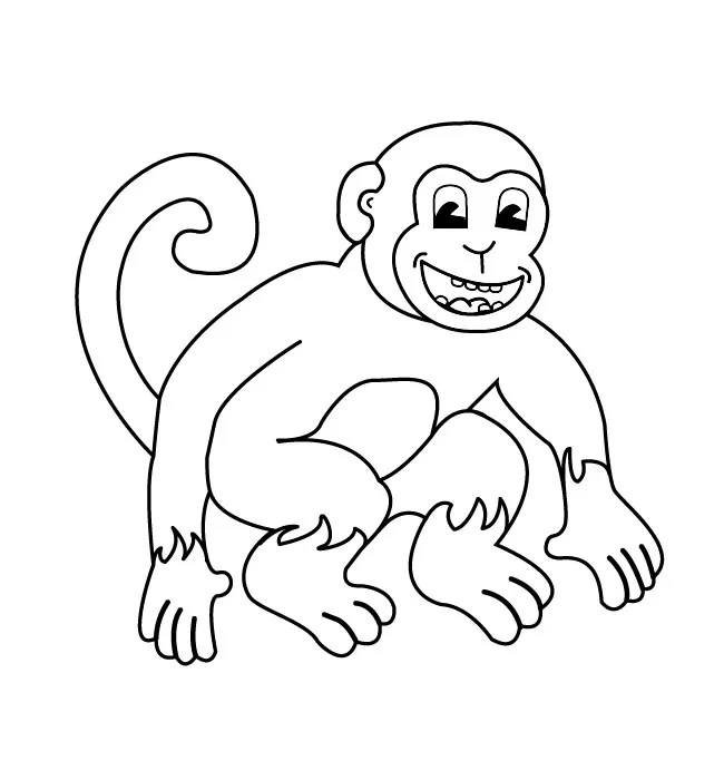 Monkey Template - Animal Templates Free  Premium Templates