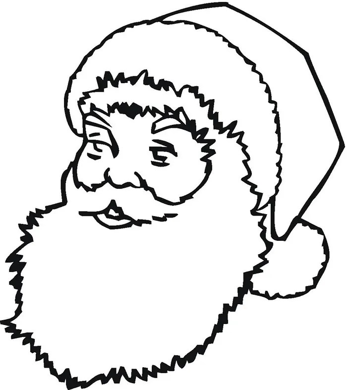 60+ Best Santa Templates Shapes, Crafts  Colouring Pages Free