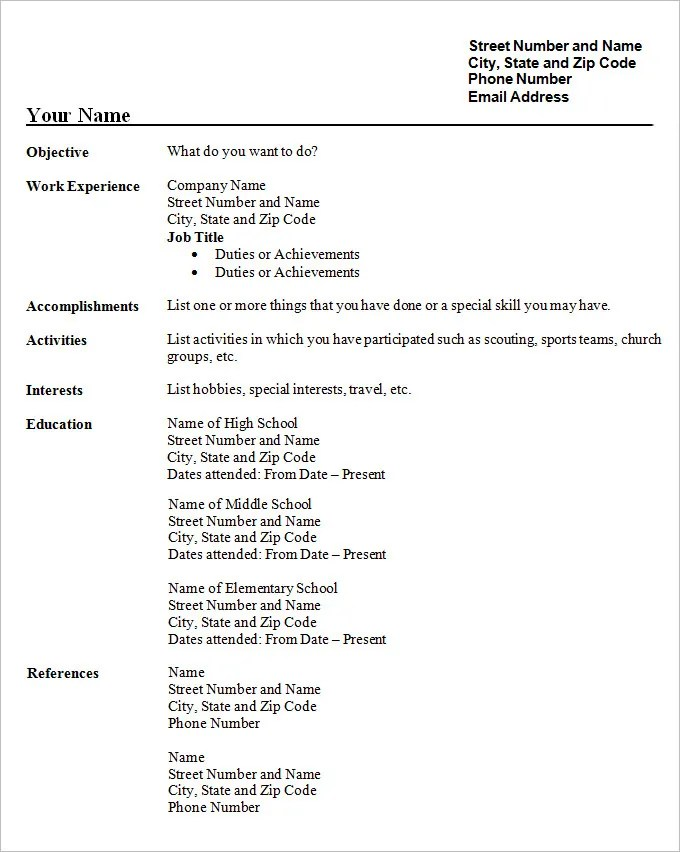 model resume free download - Onwebioinnovate