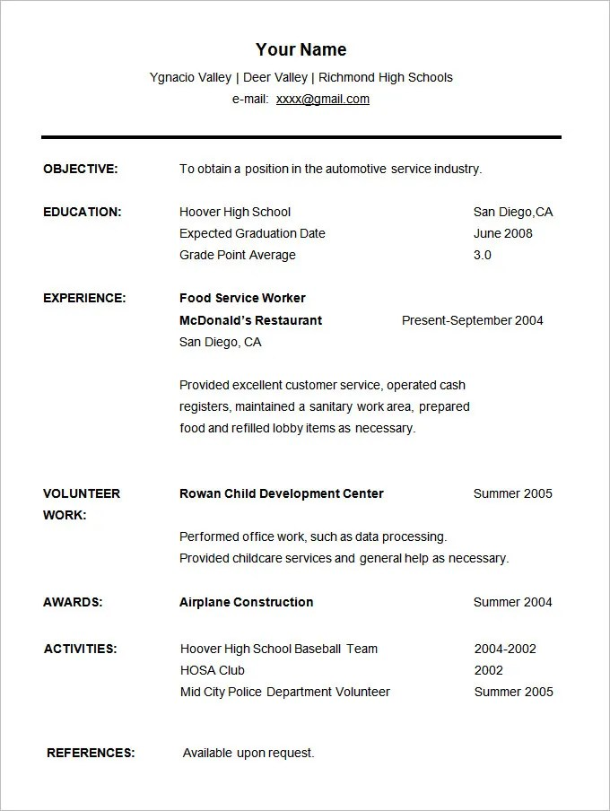 cv for students - Ozilalmanoof - Student Resume Templates