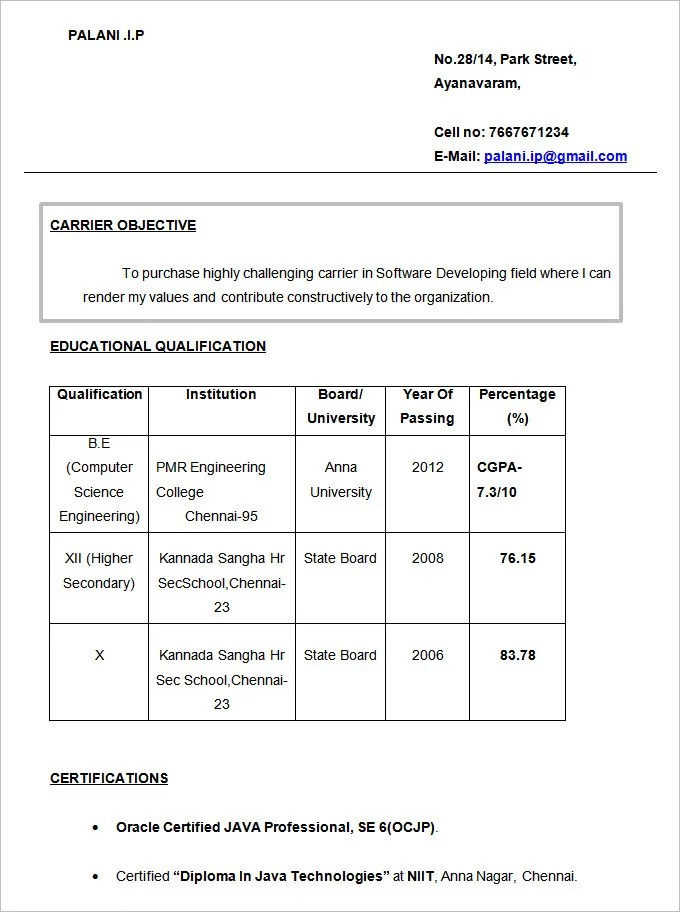 Resume Objectives - 61+ Free Sample, Example, Format Download Free - Simple Resume Objectives