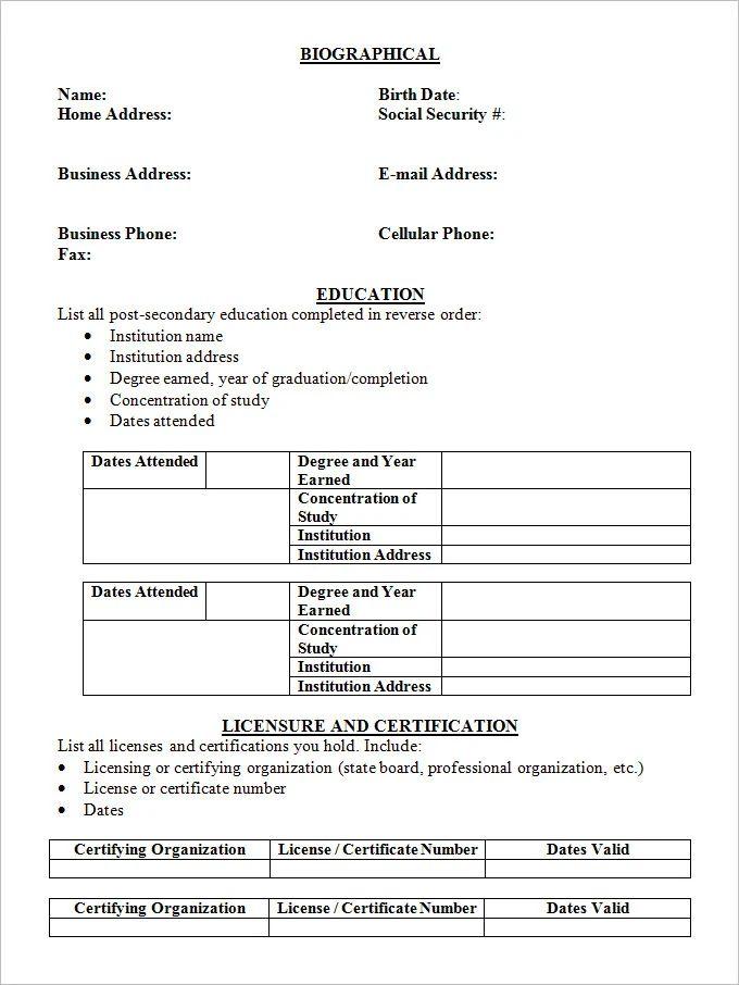 college student resume model