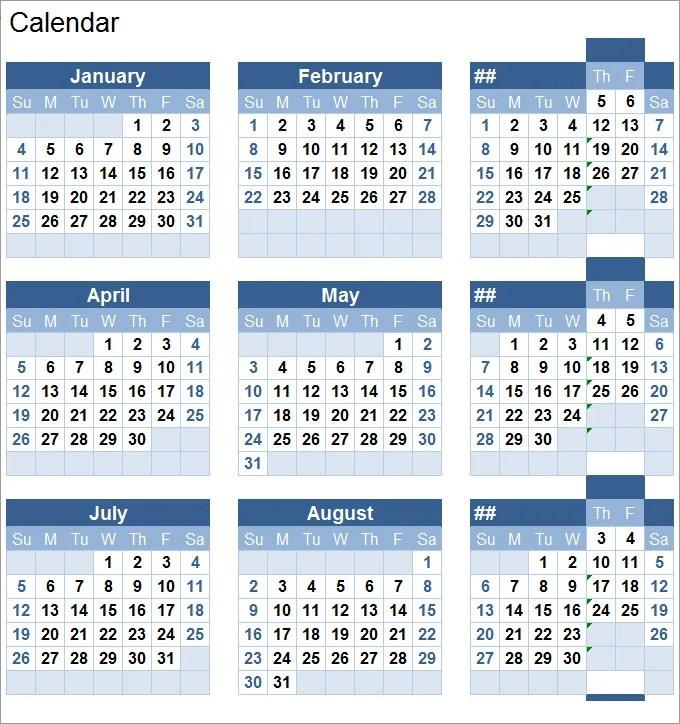 Perpetual Calendar - Calendar Template Free  Premium Templates
