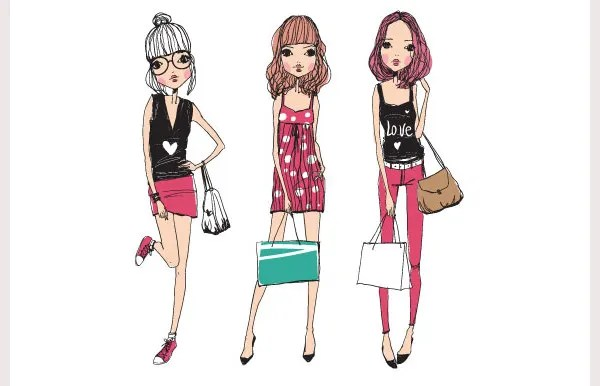 38+ Best Fashion Illustrations with Different Styles Free