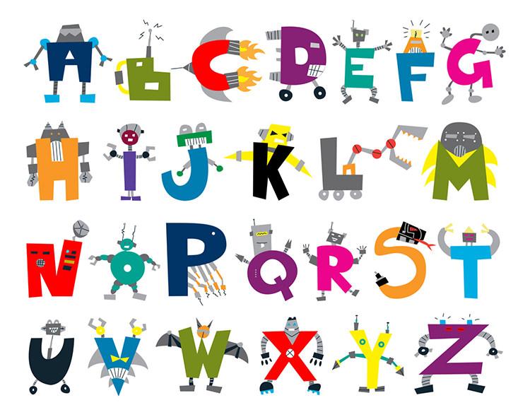 35+ Best Printable Alphabet Posters  Designs Free  Premium Templates