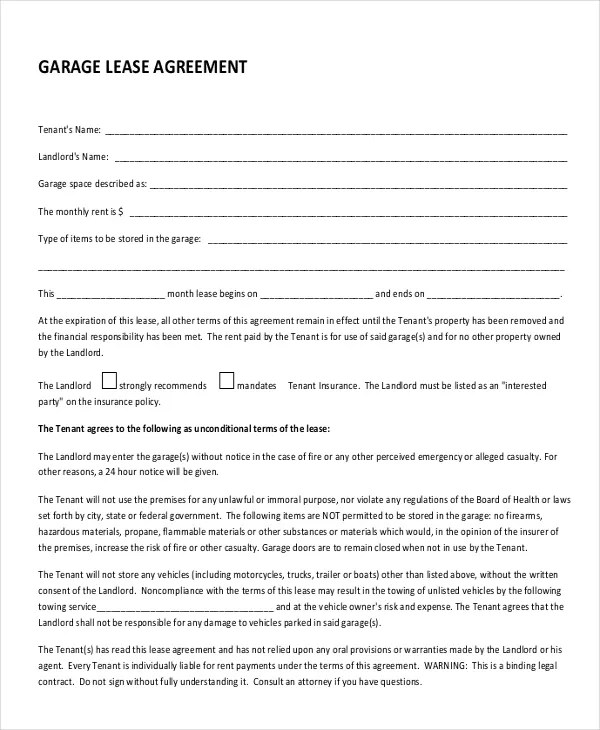 free lease agreement forms - Intoanysearch - free standard lease agreement