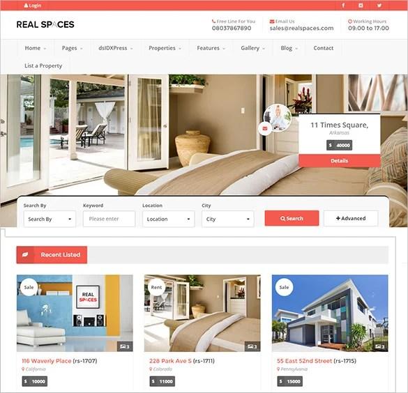 66+ Real Estate WordPress Themes  Templates Free  Premium Templates