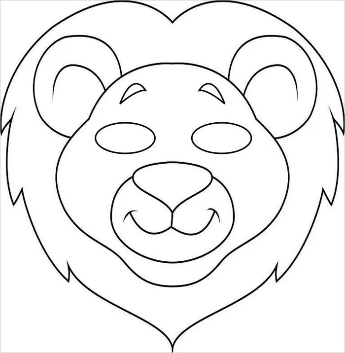 lion mask template - Ozilalmanoof
