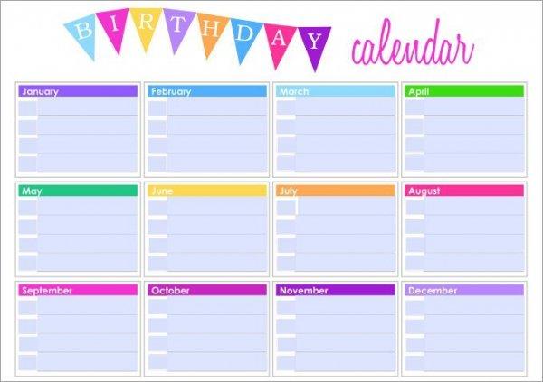 year calendar template excel