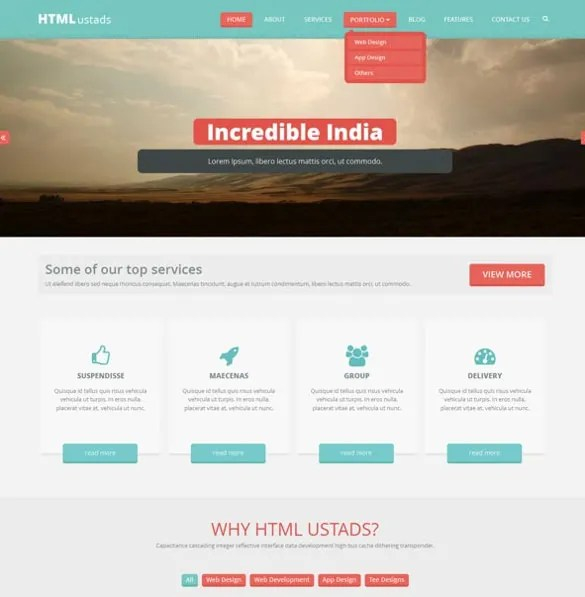 23+ Free HTML5 Website Themes  Templates Free  Premium Templates
