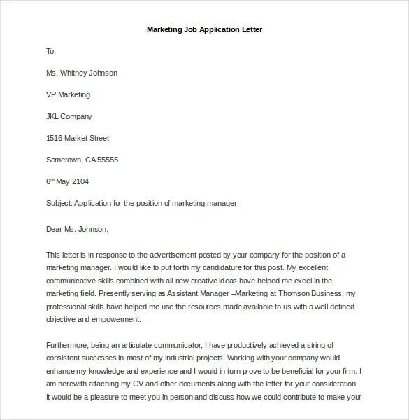 30 New Cover Letter for Marketing Job Graphics WBXO - cover letter marketing