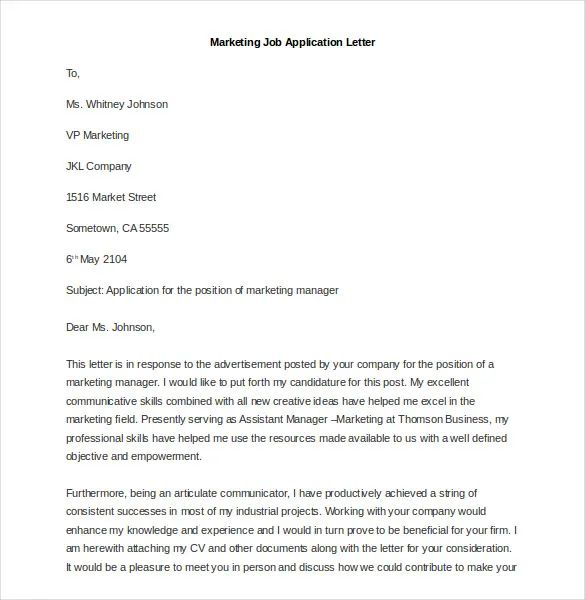 cover letter sample for sales job