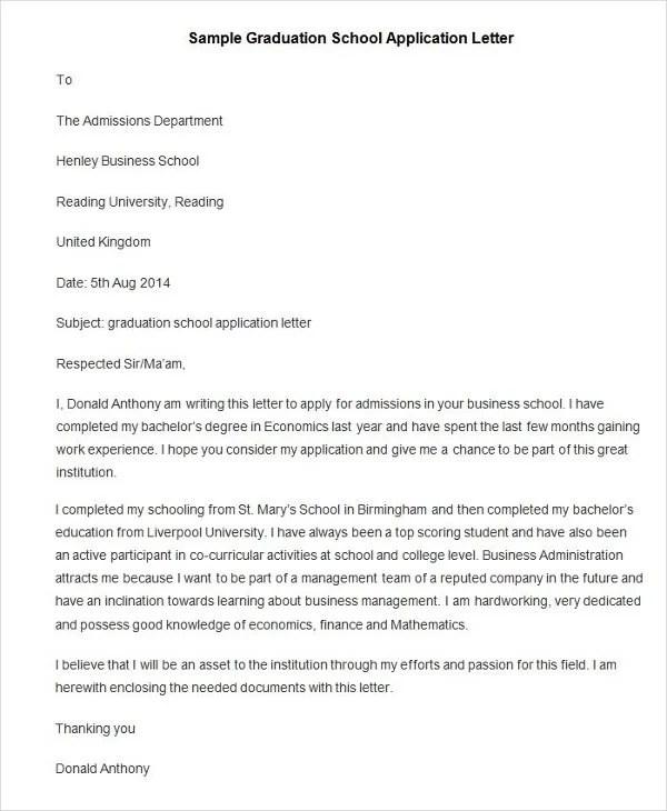 94+ Best Free Application Letter Templates  Samples - PDF, DOC