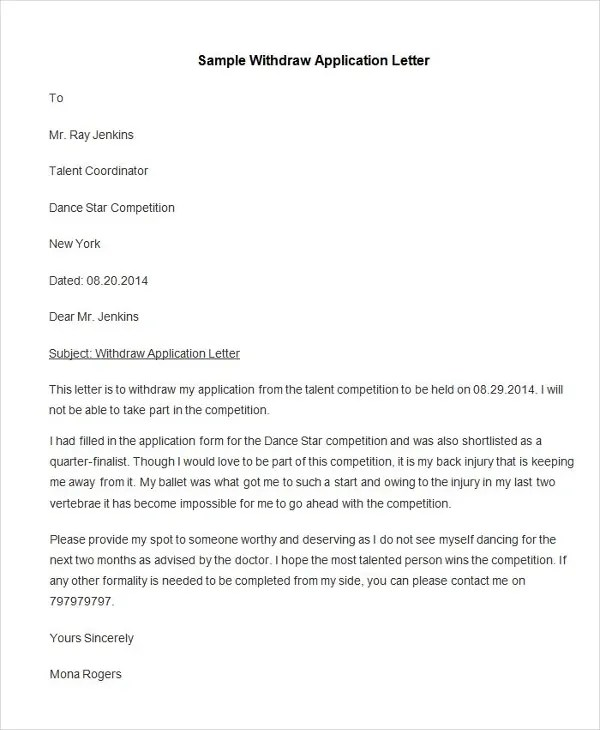 95+ Best Free Application Letter Templates  Samples - PDF, DOC - application letter sample
